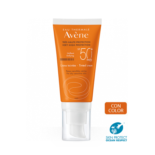 Avene Crema solar facial SPF50+ Coloreada 50ml + Máscara