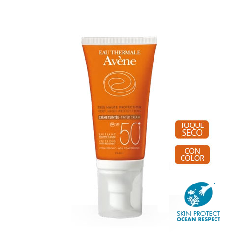 Avene Fluido solar facial SPF50+ Coloreada Seco 50ml