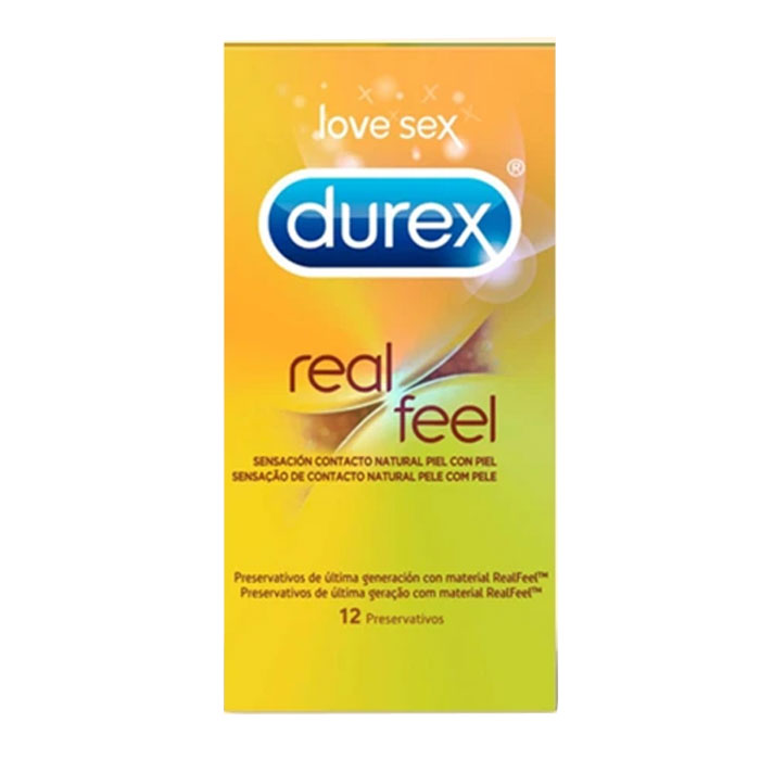 Durex Preservativos sensitivos Real Feel 12 unids.