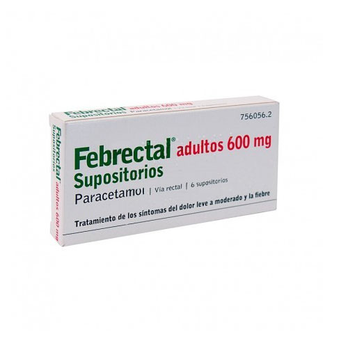 Febrectal Adultos 600mg 6 supositorios
