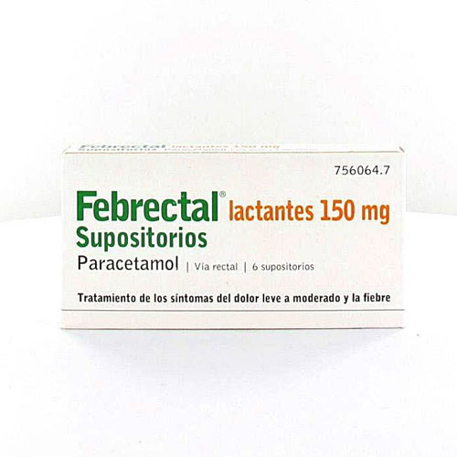 Febrectal Lactantes 150mg 6 supositorios