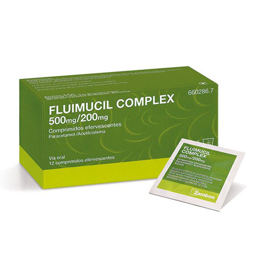 Fluimucil Complex 500mg/200mg  comp. Efervescentes