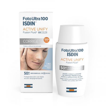 Foto Ultra 100 ISDIN Active Unify sin color SPF100
