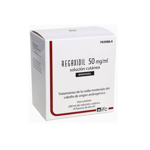 Regaxidil 50mg/ml 3 Frascos 60ml
