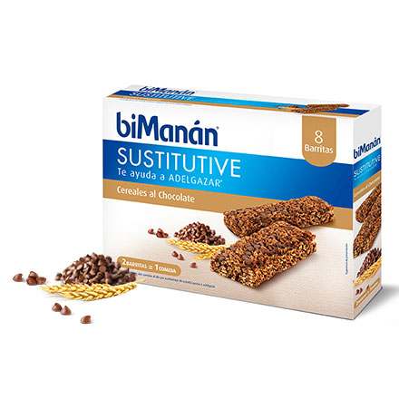 Bimanan 8 Barritas Cereales Pepitas de Chocolate