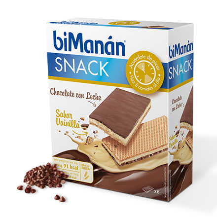 Bimanan 6 Snacks Sabor Chocolate Vainilla