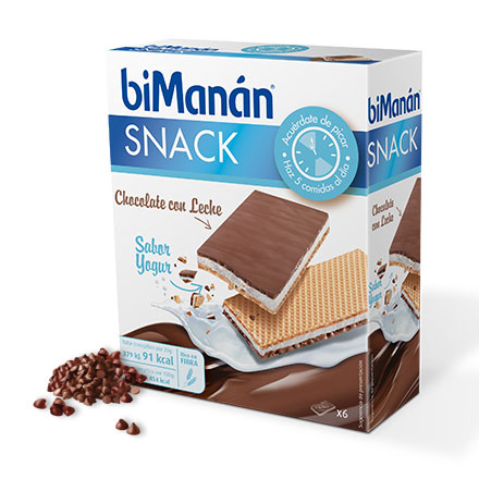 Bimanan 6 Snacks Sabor Chocolate Yogur