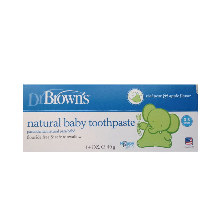 Dr Browns Pasta dental natural 40 gr