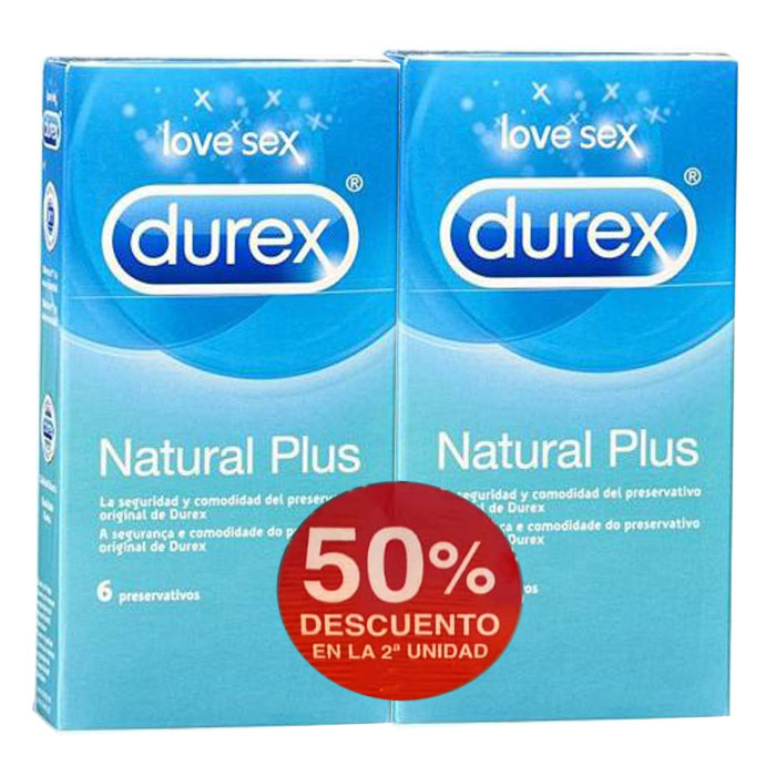 Durex Preservativos Natural Plus 6 unids.