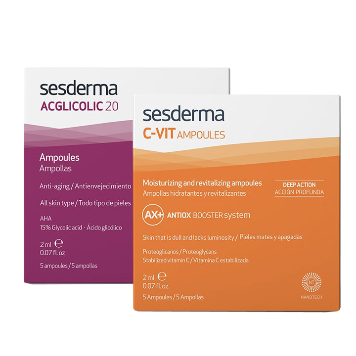 Sesderma Acglicolic Flash 1 Ampolla + C-Vit Flash 1 amp.